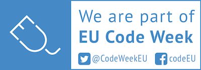 Značka We are part of EU Code Week